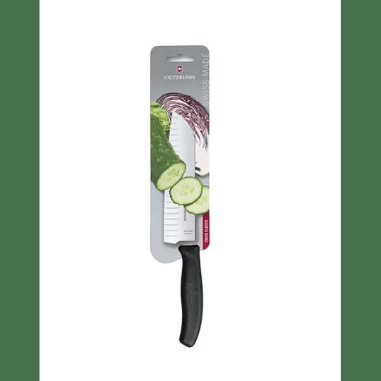 Cuchillo Santoku Victorinox Negro. Hoja 17 Cm.electromundo