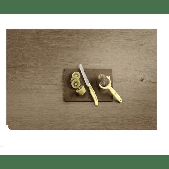Set De Cuchillo Y Pelador Victorinox Amarillo Electromundo