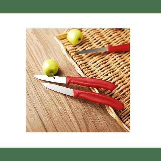 Cuchillo Victorinox Rojo. Hoja 8 Cm - Electromundo