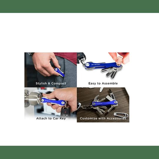 Keysmart Sistema De Organización De Llaves Azul Electromundo