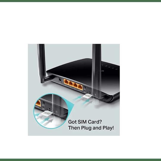 Router 4g Lte Tp-link Tl-mr6400 (chip) - Electromundo