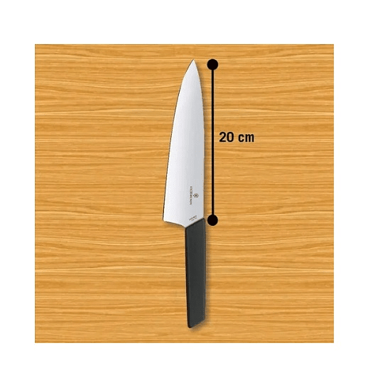 Cuchillo Victorinox Trinchar Swiss Color Negro. Hoja 20 Cm.