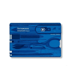Swisscard Classic Victorinox Azul Transparent - Electromundo