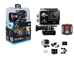 Sport Camara 1080p 4K Wifi negra incluye control remoto