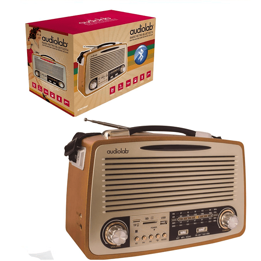 Radio estilo Retro con Bluetooth