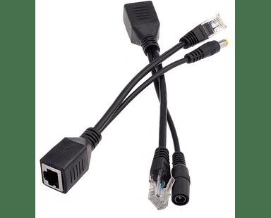 Conector POE Inyector Pasivo para Cámaras IP 12V con Plug de poder 5.5mm x 2.1mm