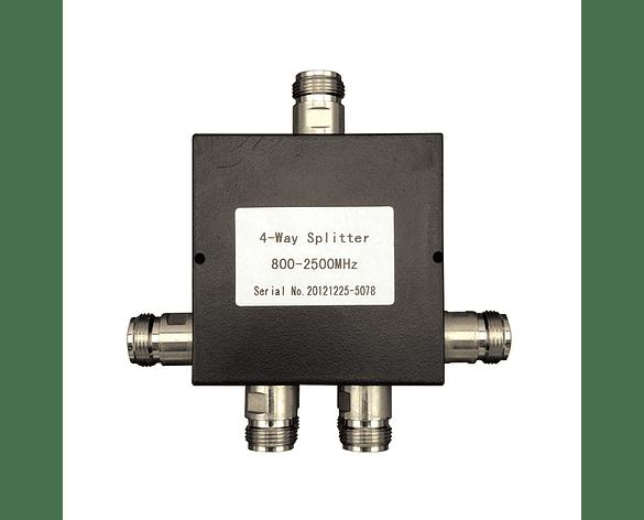 Divisor de potencia de 4 vías Splitter 800-2500 Mhz