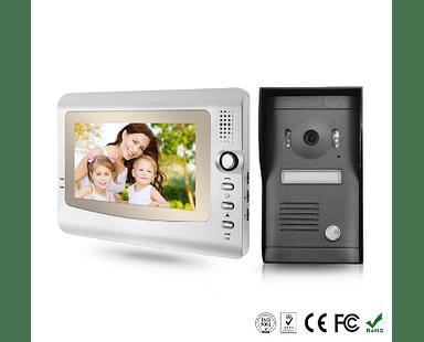 """Video Portero Intercomunicador Color Anti Vandalismo e Impermeable 7"""" LCD VD972C"""