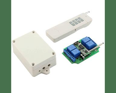 4 Relés Interruptor Inalámbrico de 5 km Control Remoto Domótica