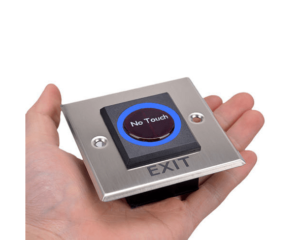 Botón de Salida Cuadrado Metálico Sin Contacto no Touch