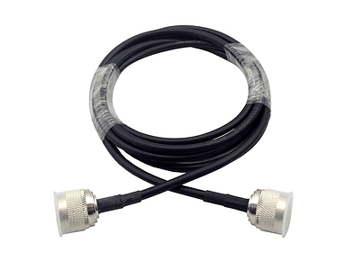 5 Metros de Cable coaxial con conectores Macho N 50 ohm