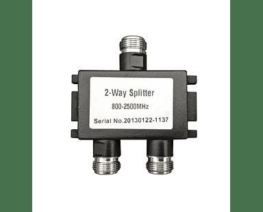 Divisor de potencia de 2 vías Splitter 800-2500 Mhz
