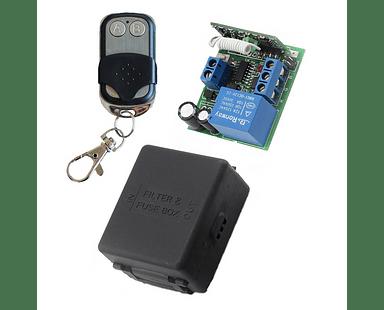 1 Interruptor RF relé inalámbrico control remoto de hasta 100 metros