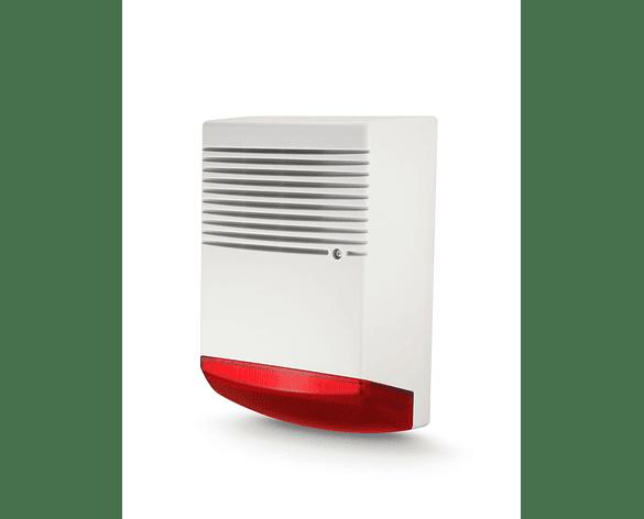 Alarma Sirena 50W baliza Botón de Pánico Comunitario 200 usuarios