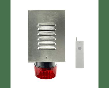 Sistema De Alarma Comunitaria RF Botón De Pánico Inalámbrico Hasta 1km