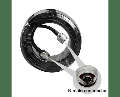 10 Metros de Cable coaxial con conectores Macho N 50 ohm