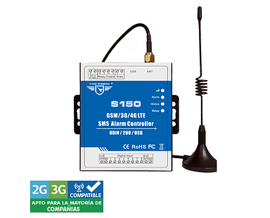 Control Remote GSM 3G Alarma (8DIN+2DO+USB) S150