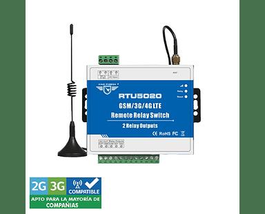 Sistema de Control Remoto GSM 3G SMS con 2 salidas de relé RTU-5020