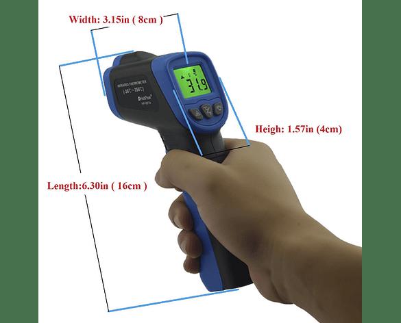 Medidor de Temperatura Inalámbrico de Pistola, Sin Contacto Digital Infrarrojo de -50°C a 350°C