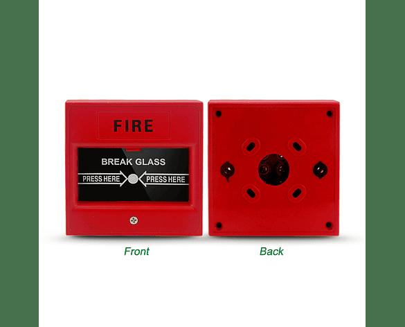 Botón de Alarma de Incendio Plástico Alámbrico