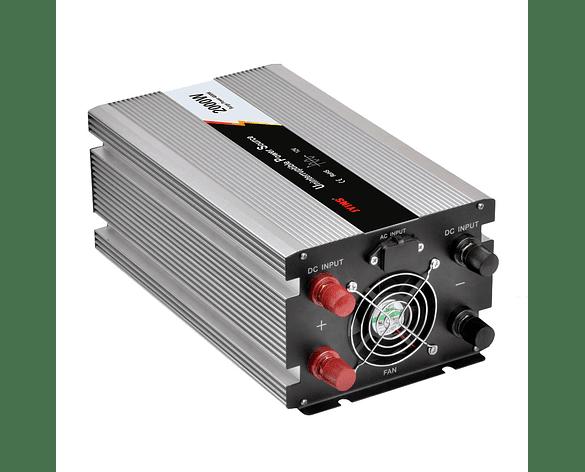 Inversor de Voltaje 2000W con Onda Sinusoidal Modificada Cargador de Batería con Transferencia Automática