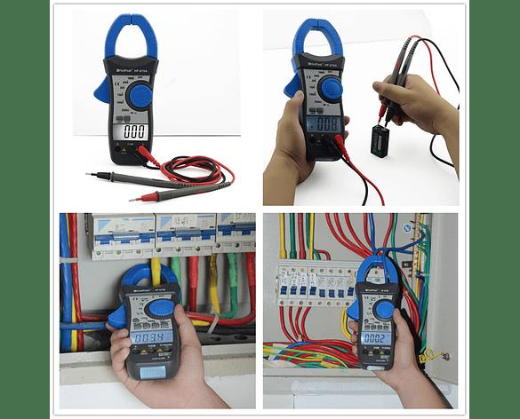 Multímetros Digital con Pinza y Control de Rango Automático