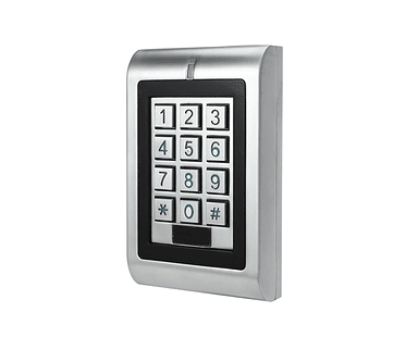 Teclado de Control de Acceso Metalico Exterior Clave y Tarjeta RFID