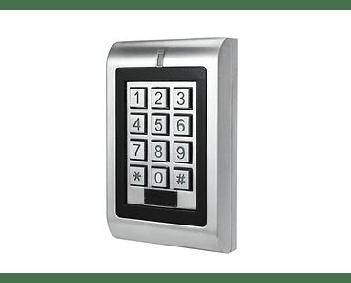 Teclado de Control de Acceso Metalico Exterior Clave y Tarjeta RFID 125khz