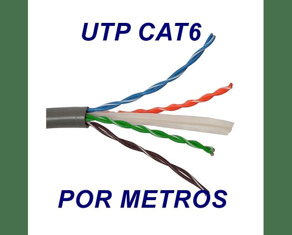Cable UTP CAT 6 red de 4 Pares Gris por metros NEXXT