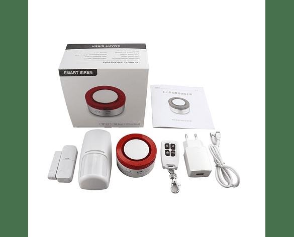 Sistema de Alarma de Seguridad para Casa Wifi APP Tuya Domótica Google Assistance Amazon Alexa