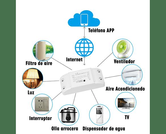 Interruptor Inteligente WiFi Inalámbrico Max Corr 10A APP Tuya Smart