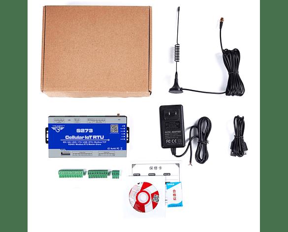 Controlador PLC y Adquisición de Datos 3G RTU S273 Modbus Maestro Esclavo
