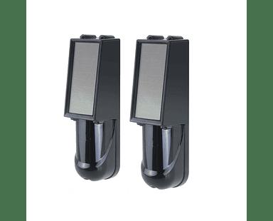 Sensor Perimetral Solar Inalámbrico de 2 Haces de 20 a 100 Metros Antivandálico