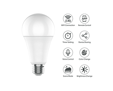 Ampolleta Led 10W WIFI Tuya Smart APP