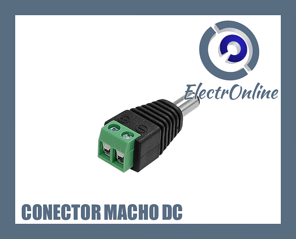 Conector macho de poder dc