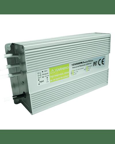 FUENTE DE PODER SWITCHING 200W 12V 16.5A EXTERIOR IP67