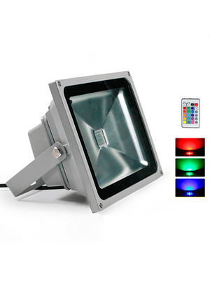 PROYECTOR LED COB RGB 30W GRIS IP65