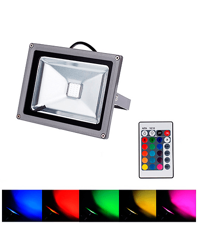 PROYECTOR LED COB RGB 10W GRIS IP65