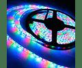 CINTA LED INTERIOR 14.4W SMD 5050 60LEDs/m 5mt. IP20 12V. RGB C/CONTROL REMOTO