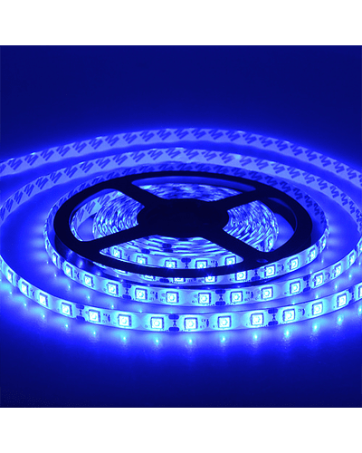 CINTA LED INTERIOR 14.4W SMD 5050 60LEDs/m 5mt. 12V. AZUL
