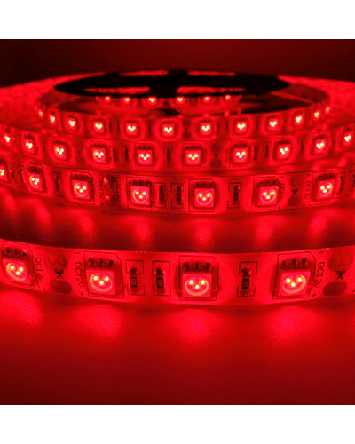 CINTA LED INTERIOR 14.4W SMD 5050 60LEDs/m 5mt. 12V. ROJO