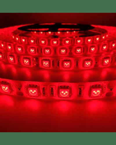CINTA LED INTERIOR 14.4W SMD 5050 60LEDs/m 5mt. 12V. ROJO