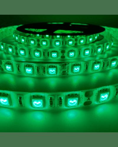 CINTA LED INTERIOR 14.4W SMD 5050 60LEDs/m 5mt. 12V. VERDE