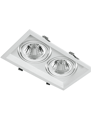 PUZZLE LED DOBLE EMBUTIDO 2X12W INTEGRADO BLANCO IP33