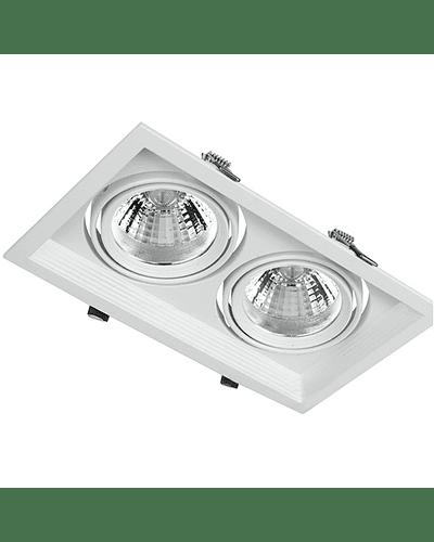 PUZZLE LED DOBLE EMBUTIDO 2X12W INTEGRADO BLANCO IP33