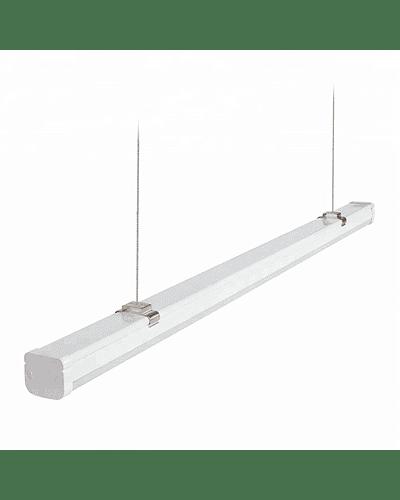 LUMINARIA LINEAL LED SUSPENDIDA 40W 120 CM. C/ACCESORIOS