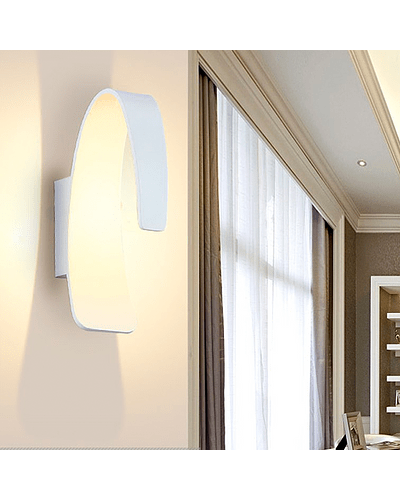 APLIQUE DECORATIVO ECLIPSE 5W LUZ FRÍA IP44 BLANCO