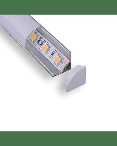 Perfil de Aluminio Esquinero para Cinta LED 1MT