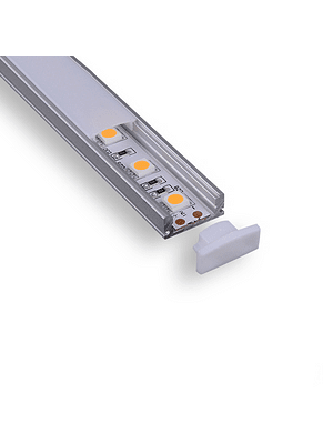 Perfil de Aluminio Sobrepuesto para Cinta LED 2MT