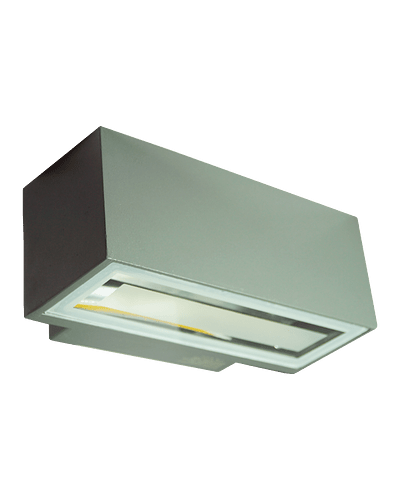 APLIQUE MURO BIDIRECCIONAL 16W  IP54 GRIS